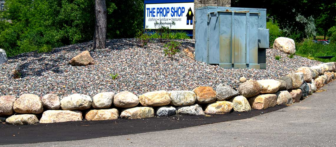 Boulder Retaining Wall Design and Installation