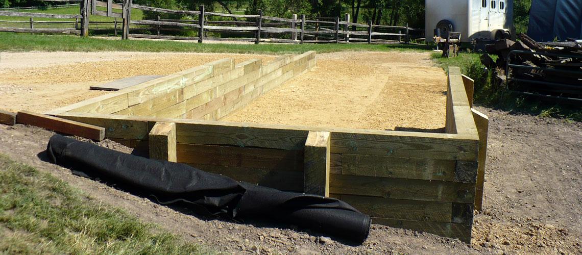 Timber Landscape Retaining Walls Design